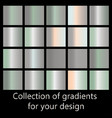 collection of metal gradients vector image vector image