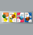 collection of modern design poster flyer brochure vector image vector image