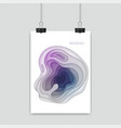 colorful poster size of a4 decoration with paper vector image vector image