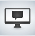 computer communication message icon vector image vector image