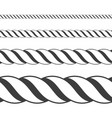 different twine black thickness rope vector image vector image
