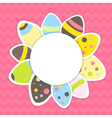 Eastern eggs pattern on a pink vector image