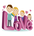 family love 4 vector image vector image
