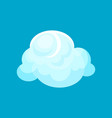 flat icon of small fluffy cloud with lights vector image vector image