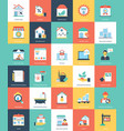 flat icons of real estate vector image vector image