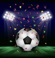 football day concept background realistic style vector image vector image