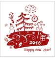 for holiday celebration happy new vector image vector image