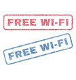 free wi-fi textile stamps vector image vector image