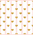 gold heart seamless pattern pink-white geometric vector image vector image
