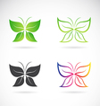 group of butterfly design vector image vector image