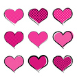 Halftone style hearts collection vector image
