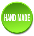 hand made green round flat isolated push button vector image vector image