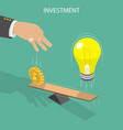 ivestment flat isometric concept vector image vector image