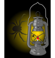 kerosene lamp with a spider vector image vector image