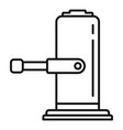 lifter jack-screw icon outline style vector image vector image