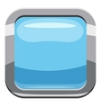Light blue square button icon cartoon style vector image vector image