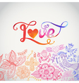 Love watercolor lettering Watercolor letters love vector image vector image