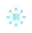 mainframe server hosting service linear icon vector image vector image
