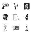 Medicine and hospital set icons in black style vector image vector image