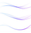 minimalistic soft smooth futuristic swoosh lines vector image vector image