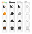 mining equipment tools and other web icon in vector image vector image
