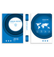 modern deep blue circle business brochure design vector image vector image