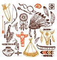 Native Americans Set vector image vector image