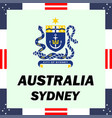 official government elements of australia - sydney vector image
