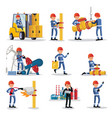 oil industry people set vector image vector image