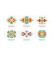 ornament design logo templates collection vector image