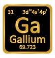 periodic table element gallium icon vector image vector image