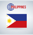 philippines flag isolated on modern background vector image