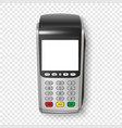 realistic silver 3d payment machine pos vector image