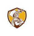 Roman Centurion Carry Flag Crest Retro vector image vector image