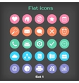 Round Flat Icon Set 1 vector image vector image