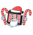 Santa with candy eye shadow above character