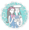 sea stories portrait for happiness vector image