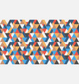 seamless geometric triangles colorful pattern vector image