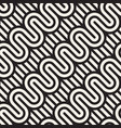 seamless patternwavy bold lines geometric striped vector image vector image