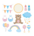 set bashower and special decoration vector image