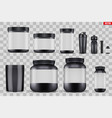 set mockup sport nutrition containers vector image vector image