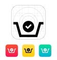 Shopping basket check icon vector image vector image