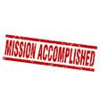 square grunge red mission accomplished stamp vector image vector image