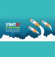 start up launcher set rockets vector image vector image