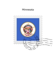 State of Minnesota flag postage stamp vector image vector image