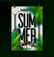 summer holiday typographic on vector image
