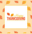 thanksgiving day colorful greeting card vector image vector image