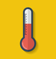 Thermometer icon Flat style vector image