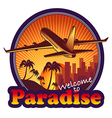 travel paradise vector image vector image