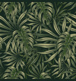 tropical foliage green seamless pattern vector image vector image